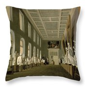 The Antiquities Gallery Of The Academy Of Fine Arts, 1836 Oil On Canvas Throw Pillow
