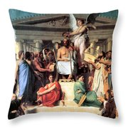 The Apotheosis Of Homer Throw Pillow