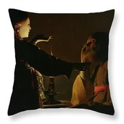 The Appearance Of The Angel To Saint Joseph Throw Pillow