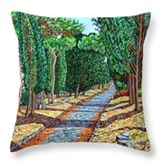The Appia Antica Throw Pillow