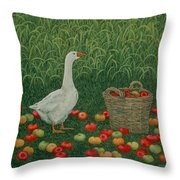 The Apple Basket Throw Pillow