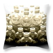 The Apple Bottle Throw Pillow