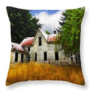The Apple Tree On The Hill Throw Pillow