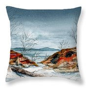 The Approaching Evening Throw Pillow