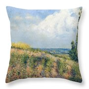 The Approaching Storm Throw Pillow by Camille Pissarro