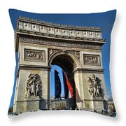 The Arc De Triomphe De Etoile  Throw Pillow