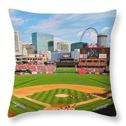 The Arch In The Outfield Throw Pillow