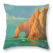 The Arch Of Cabo San Lucas 2 Throw Pillow