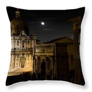 The Arch Of Septimius Severus Throw Pillow