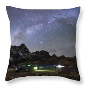 The Arch Of The Milky Way Galaxy Throw Pillow