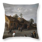 The Archers Throw Pillow