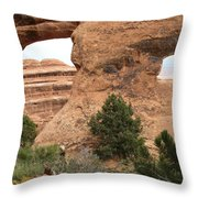 The Arches Of Double O Arch  Throw Pillow