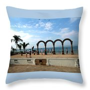 The Arches On The Playa Throw Pillow