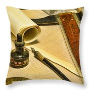 The Architect Throw Pillow by Paul Ward