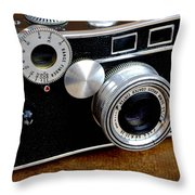 The Argus C3 Lunchbox Camera Throw Pillow