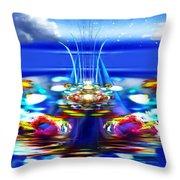 The Arkadian Fountain Throw Pillow