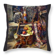The Armenian Still-life With A Armenian Doll Throw Pillow
