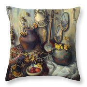 The Armenian Still-life With Culture Subjects Throw Pillow