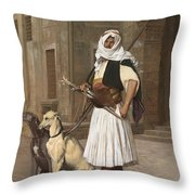 The Arnaut With Two Whippets Throw Pillow