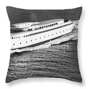 The Art Deco Ferry Kalakala Throw Pillow