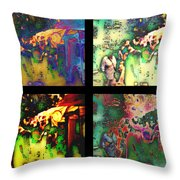 The Art Fair Throw Pillow