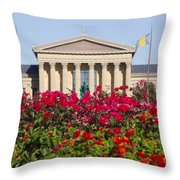 The Art Museum In Summer Throw Pillow