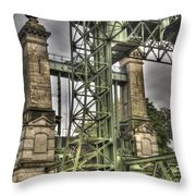 The Art Nouveau Ships Elevator Throw Pillow