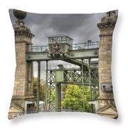 The Art Nouveau Ships Elevator - Portal View Throw Pillow