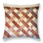 The Art Of Brick Weaving  Throw Pillow