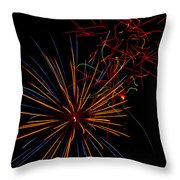 The Art Of Fireworks  Throw Pillow