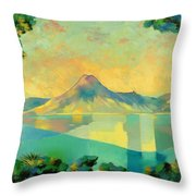 The Art Of Long Distance Breathing Throw Pillow by Andrew Hewkin