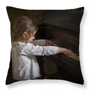 The Art Of Melody Throw Pillow