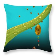 The Art Of Raining In California Throw Pillow