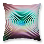 The Art Of Ripples Throw Pillow