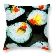 The Art Of Sushi Throw Pillow