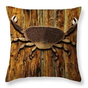 The Art Of The Crab Throw Pillow