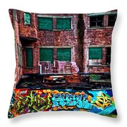 The Art Of The Streets Throw Pillow by Karol Livote