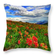 The Art Of Wildflowers Throw Pillow