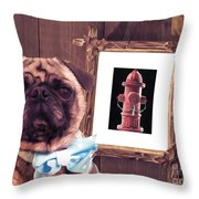 The Artist And His Masterpiece Throw Pillow by Edward Fielding