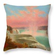 The Artist At Niagara Throw Pillow