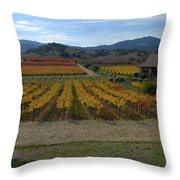 The Artist In The Vineyard Throw Pillow