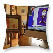 The Artist In His Studio Throw Pillow
