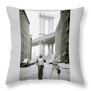 The Artist In New York Throw Pillow
