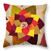 The Artistry Of Fall Throw Pillow