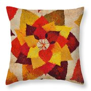 The Artistry Of Fall Klimt Homage Throw Pillow
