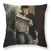 The Artists Father Reading L Evenement Throw Pillow
