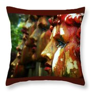 The Artist's Garden Throw Pillow