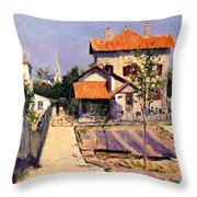The Artists House At Yerres Throw Pillow