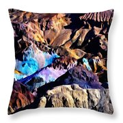The Artists Palette Death Valley Throw Pillow