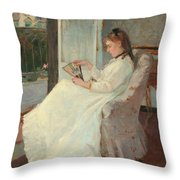 The Artist's Sister At A Window Throw Pillow